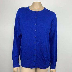 Blue Charter Club Womans button down cardigan - 0X